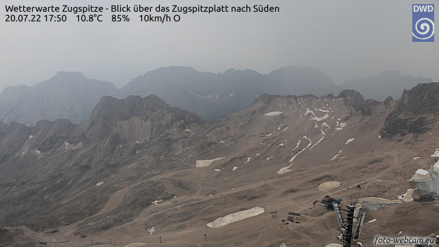 Webcam Alemania Garmisch-Partenkirchen Vista de las pistas de esquí